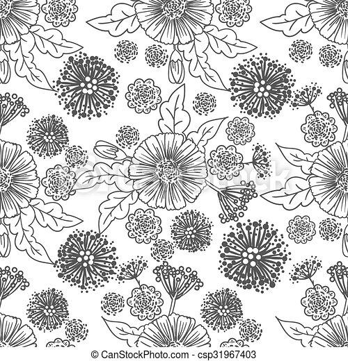 Trendy Seamless Floral Pattern - csp31967403