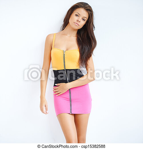 Trendy Sexy Young Woman Csp15382588