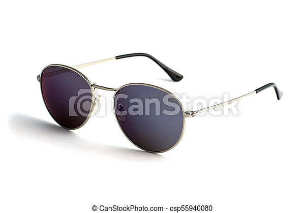 Trendy sunglasses in the form of drops isolated on white background - csp55940080