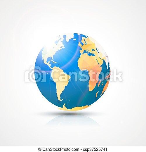 Trendy triangular world globe map america africa and europe trendy triangular world globe map america africa and europe global communication concept vector gumiabroncs Images