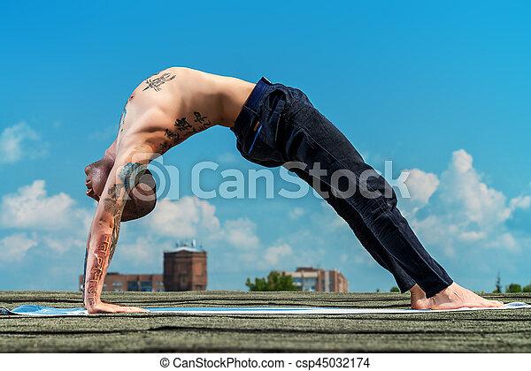 trening, yoga - csp45032174