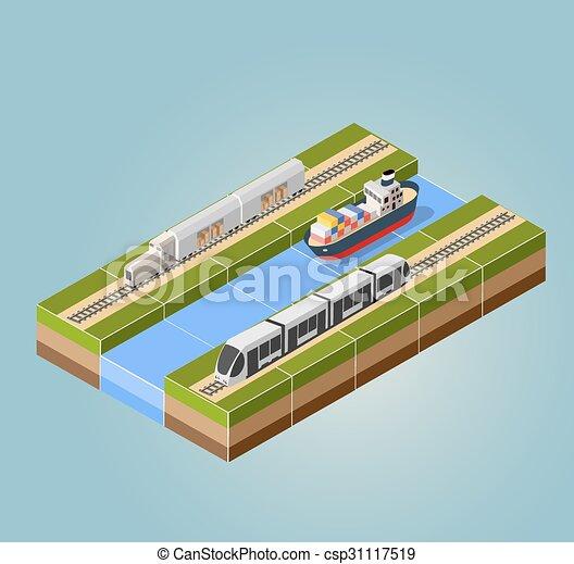 treno ad alta velocità - csp31117519
