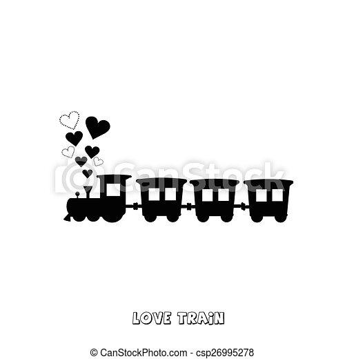treno, amore, scheda - csp26995278