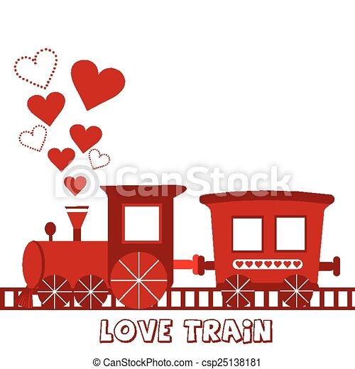 treno, amore, scheda - csp25138181