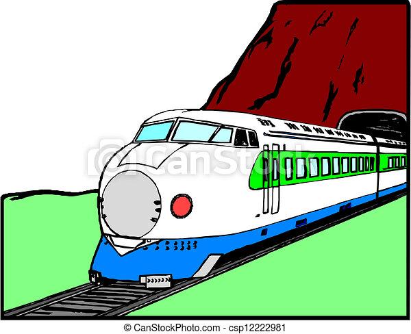 treno espresso - csp12222981