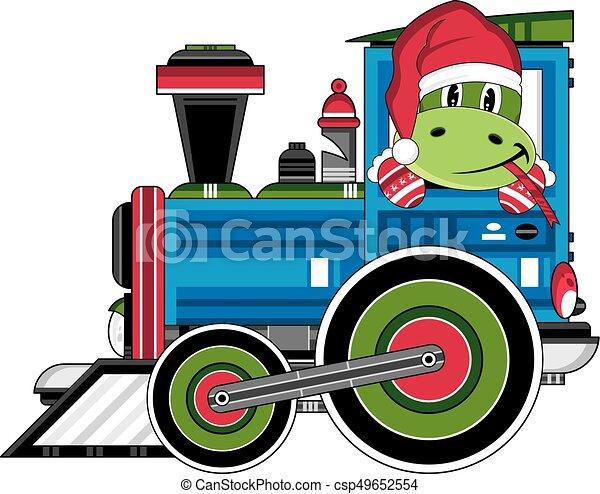 Carino vettore guida illustrazione cartone animato treno