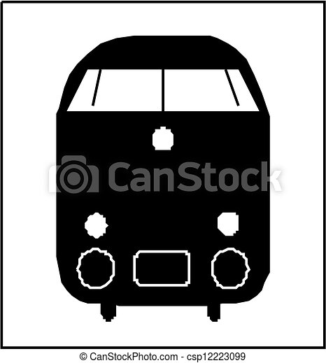 treno, silhouette - csp12223099