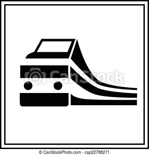 treno, silhouette, segno - csp22788271