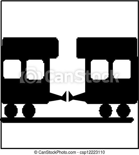 treno, silhouette - csp12223110