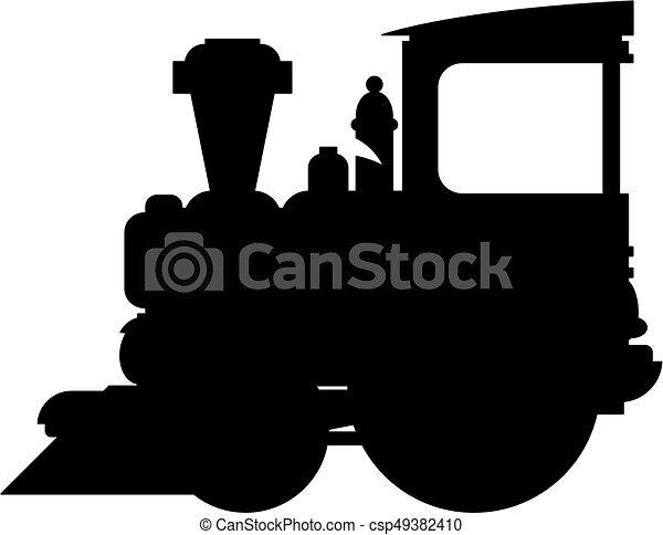 treno, silhouette - csp49382410