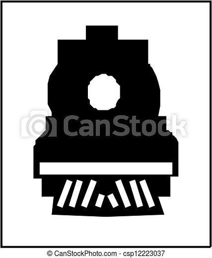 treno, silhouette - csp12223037