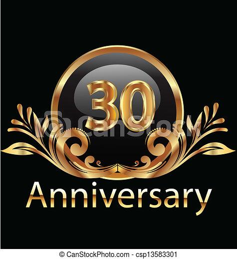 trenta, anniversario, compleanno, anni - csp13583301