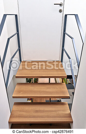 Treppe, Brücke, Modern, Design, Daheim   Csp42876491