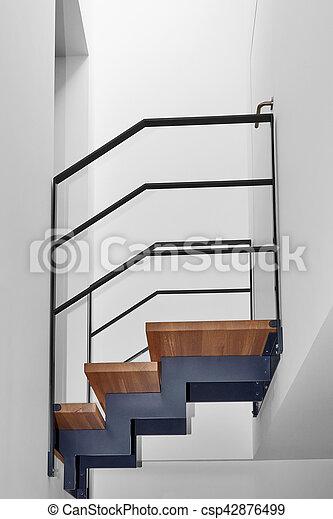 Treppe, Brücke, Modern, Design, Daheim   Csp42876499