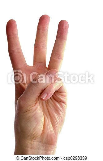 Tres dedos - csp0298339