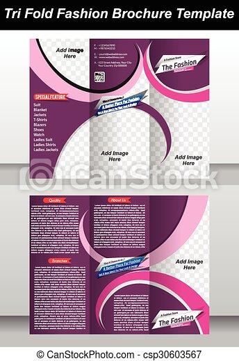 tri fashion store brochure template csp30603567 - Fashion Brochure Template