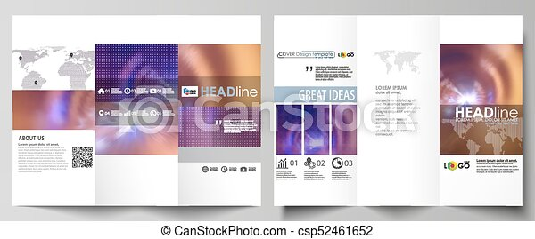 Tri Fold Brochure Business Templates On Both Sides Easy Editable Abstract Vector Layout In Flat Style Bright Color Colorful Design Beautiful