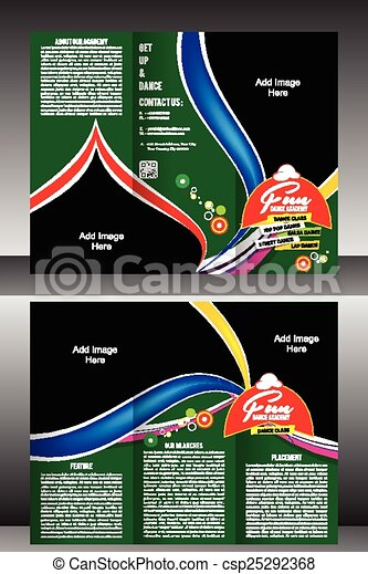 tri fold dance academy brochure template