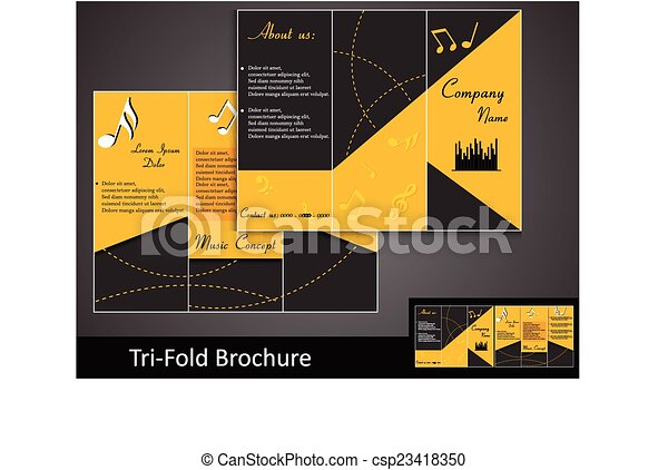 Tri Fold Music Brochure Template With Information
