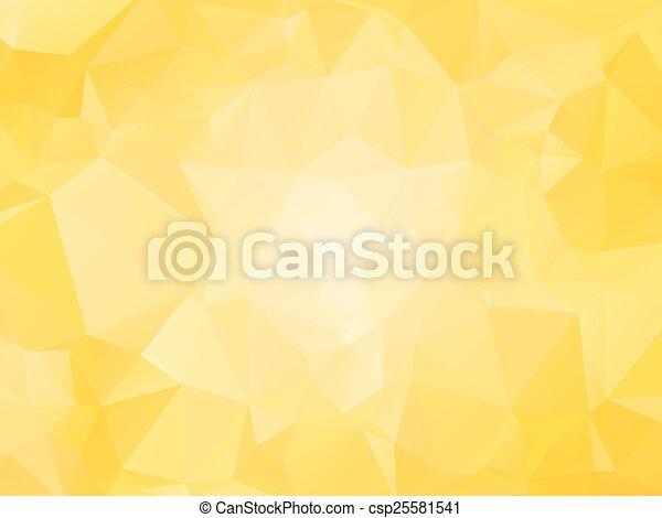 triagles, fond jaune - csp25581541