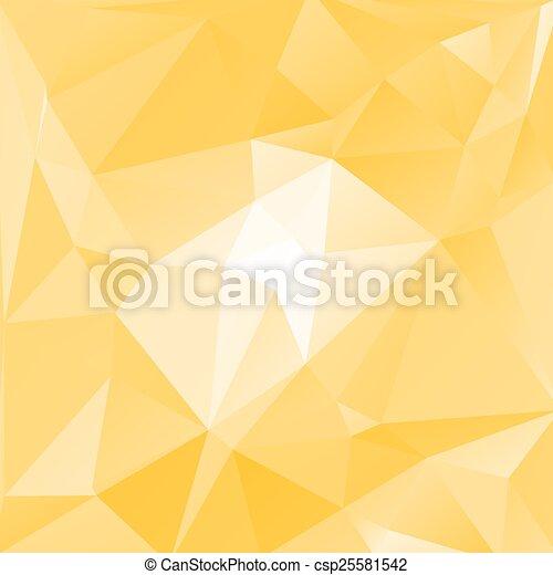 triagles, fond jaune - csp25581542