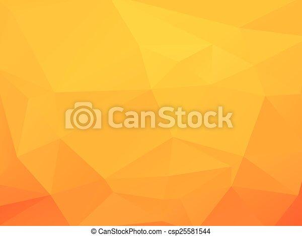 triagles, fond jaune - csp25581544