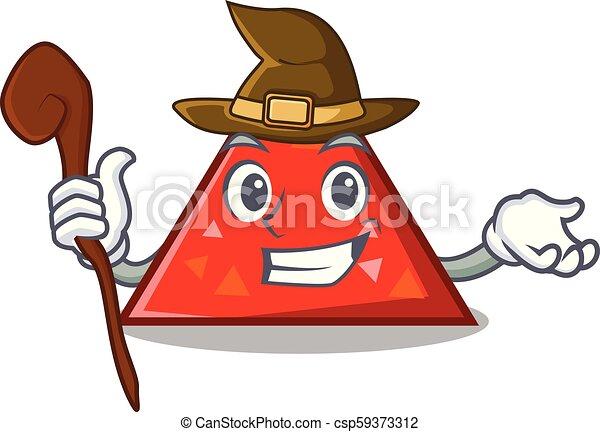Estilo de caricatura de mascota triangel de brujas - csp59373312