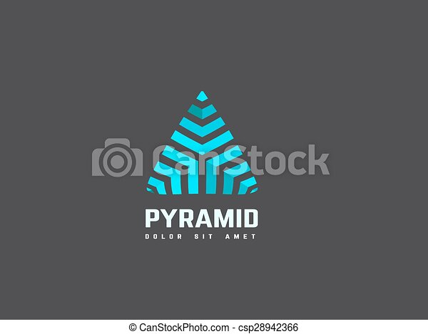 Triangle abstract logo design template. Creative business symbol. Vector logotype. - csp28942366