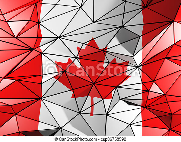 Triangle background with flag of canada - csp36758592