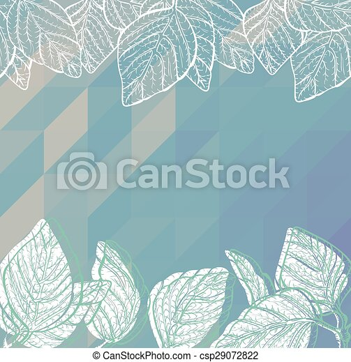 Triangle background with leaves - csp29072822