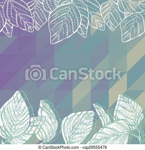 Triangle background with leaves - csp29555479