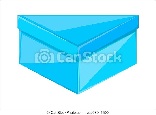 Triangle Box Design Glossy Blue Triangle Shape Gift Box Design