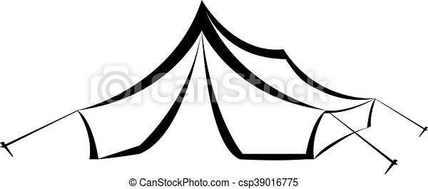 Triangle Camping Tent Vector