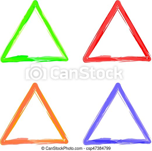 Triangle color abstract shape frame vector art illustration eps ...
