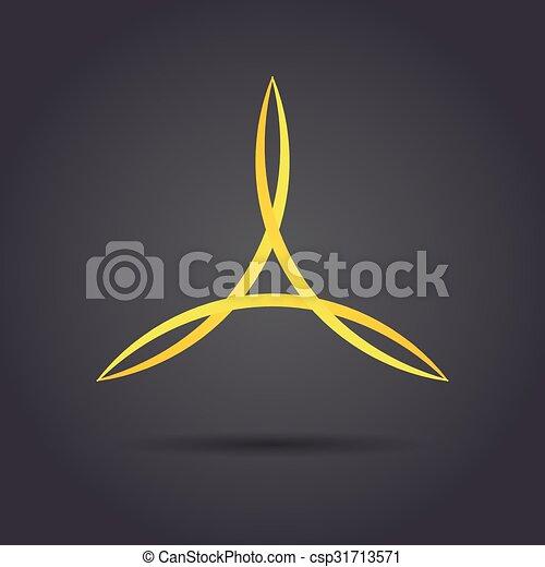 Triangle curved symbol - csp31713571