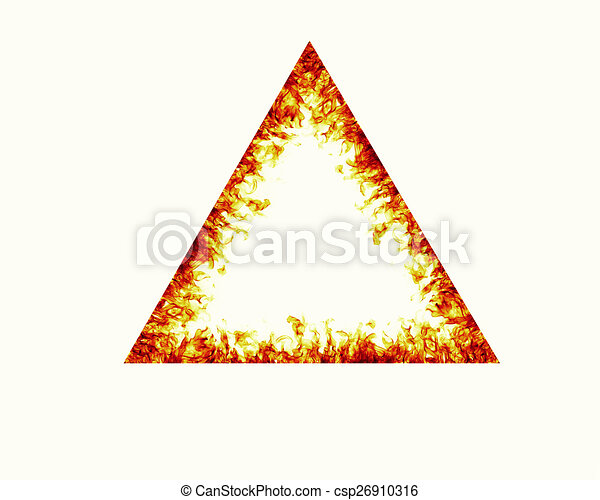 Triangle fire flames frame on white background clipart - Search ...
