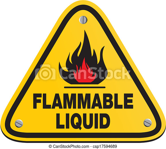Triangle Flammable Liquid Sign Suitable For Warning Signs