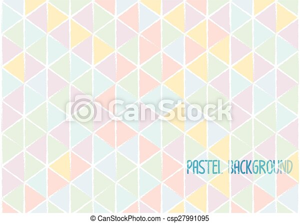Colour Line Art Design : Triangle geometric abstract background pastel water colour eps