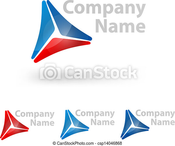 triangle logo design - csp14046868
