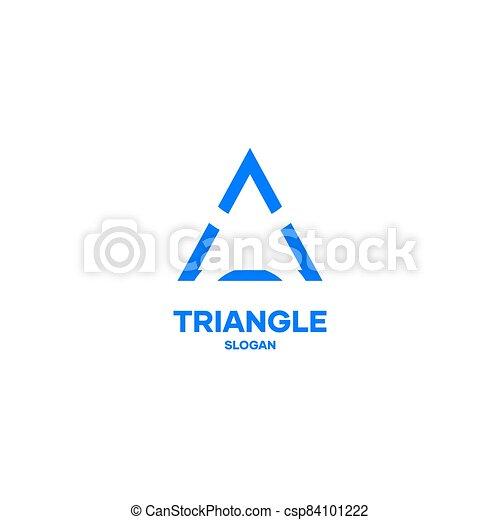 Triangle logo icon design vector simple minimal elegant - csp84101222
