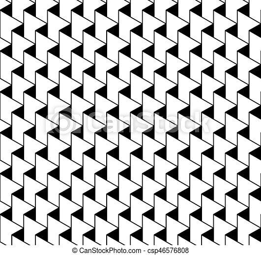 Souvent Clipart Vecteur de triangle., modèle, seamless, zigzag, noir  OC61