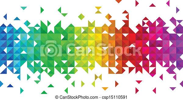 triangle mosaic background - csp15110591
