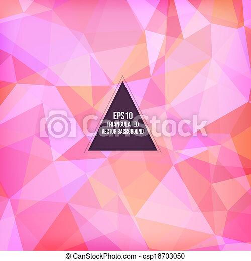 Triangle pattern background - csp18703050
