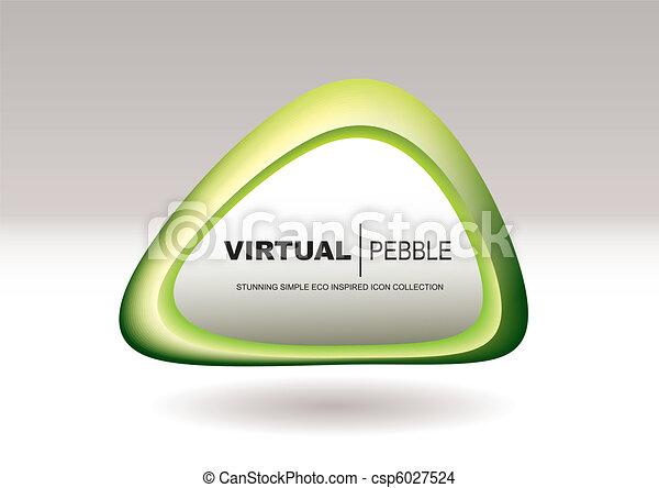 Triangle pebble green - csp6027524
