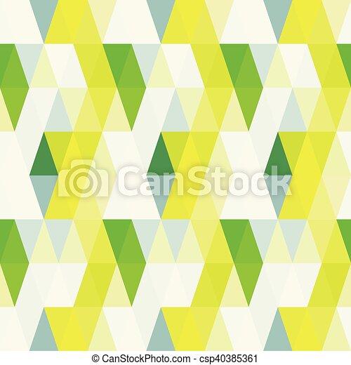 Triangle retro pattern seamless background - csp40385361