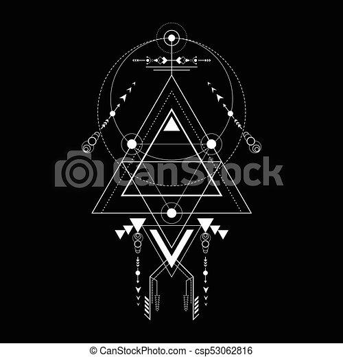 triangle sacred geometry navajo ornament