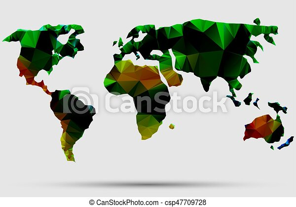 Triangle world map vector illustration stylize world map triangle world map vector illustration stylize world map technology colored concept gumiabroncs Image collections