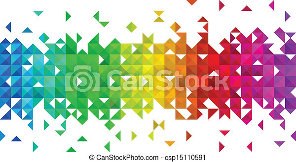 triangolo, mosaico, fondo - csp15110591