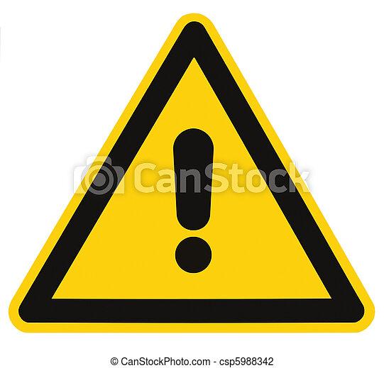 triangolo, pericolo, macro, isolato, segno pericolo, avvertimento, vuoto - csp5988342