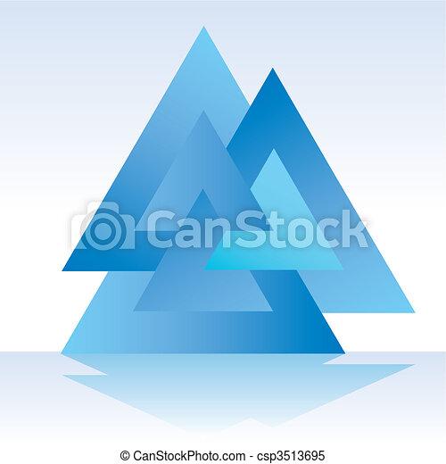 triangolo, triplo, 3d - csp3513695